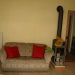 Appartement Zürich Sofa und ein Schwedenofen
