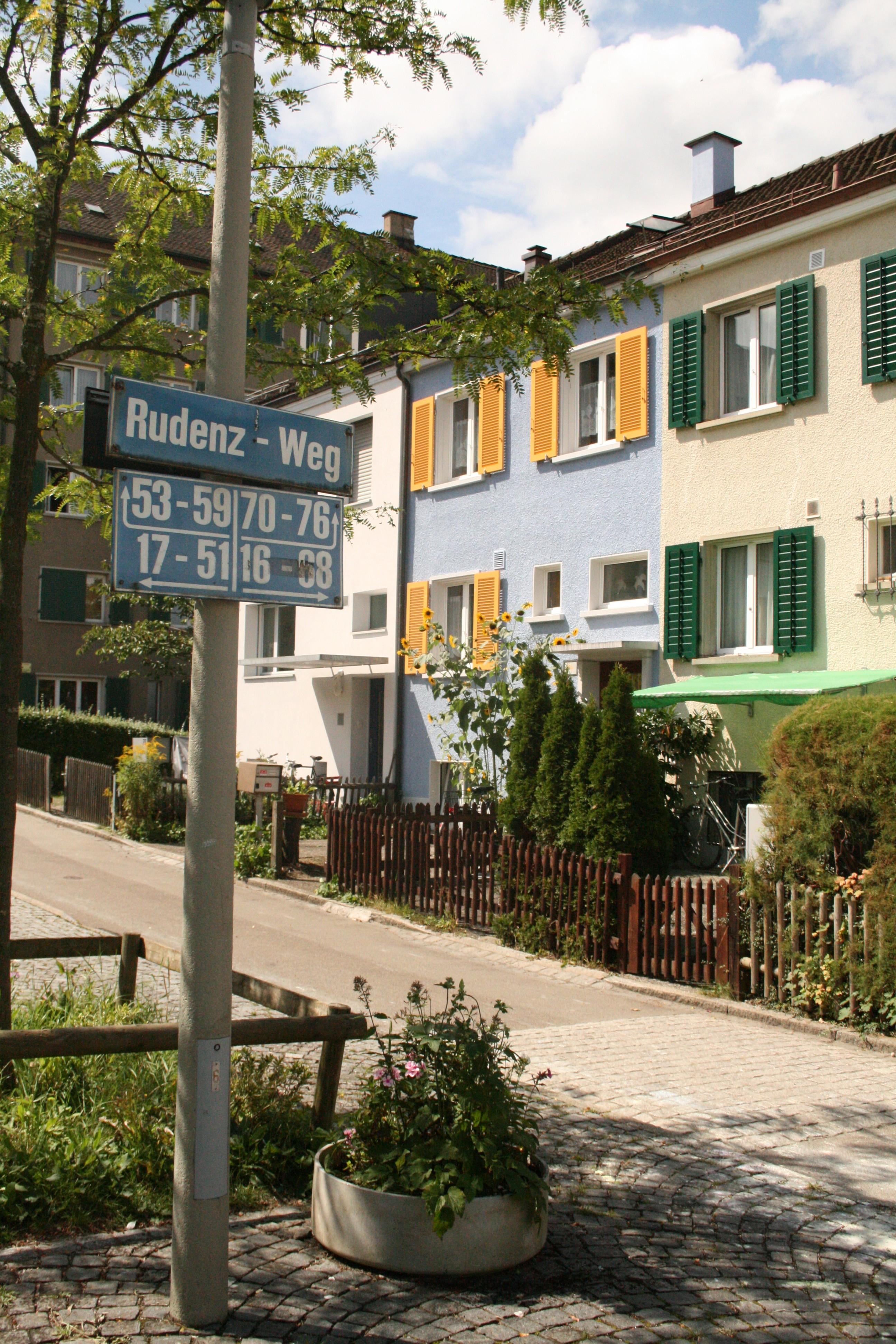 Weg, Quartierstrasse, Rudenz - Weg